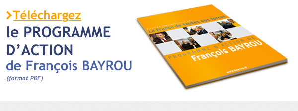 Programme Action F. BAYROU